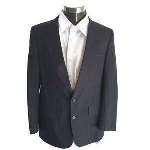 Christian Dior Mens Formal Suit Blue Pinstripe 40S